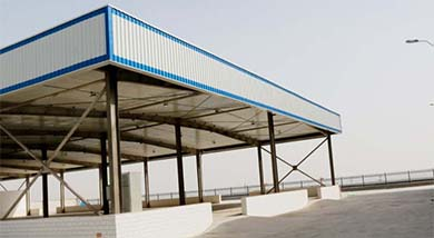 Raw material shed